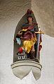 Saint Florian, statue, street corner, Oberammergau, Bavaria, Germany.jpg
