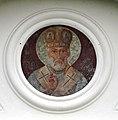 Saint Nicholas Orthodox church in Topilec - st. Nicholas icon over the entrance.jpg