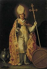 St Willibrord with the Dom Tower of Utrecht in his right hand