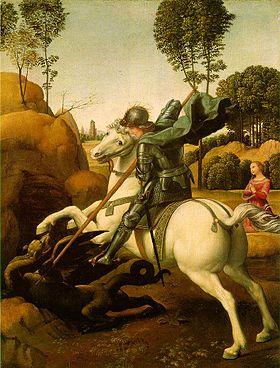 Image illustrative de l'article Saint Georges et le Dragon (Raphaël, National Gallery of Art)