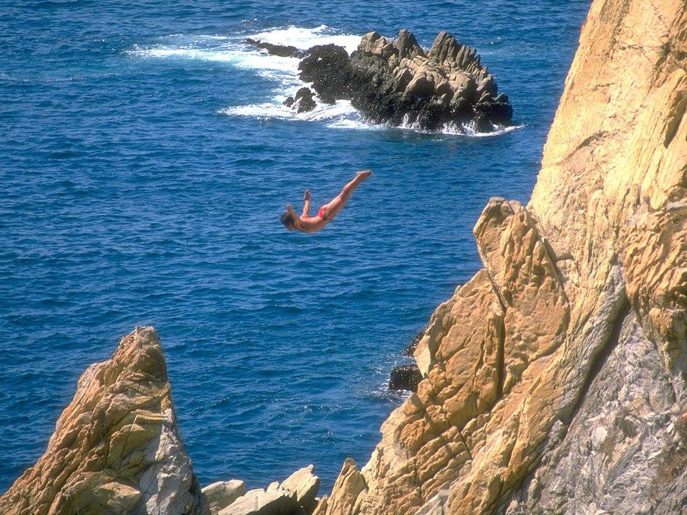 Saltadores de La Quebrada en Acapulco