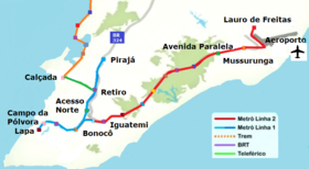 Image illustrative de l'article Métro de Salvador (Brésil)