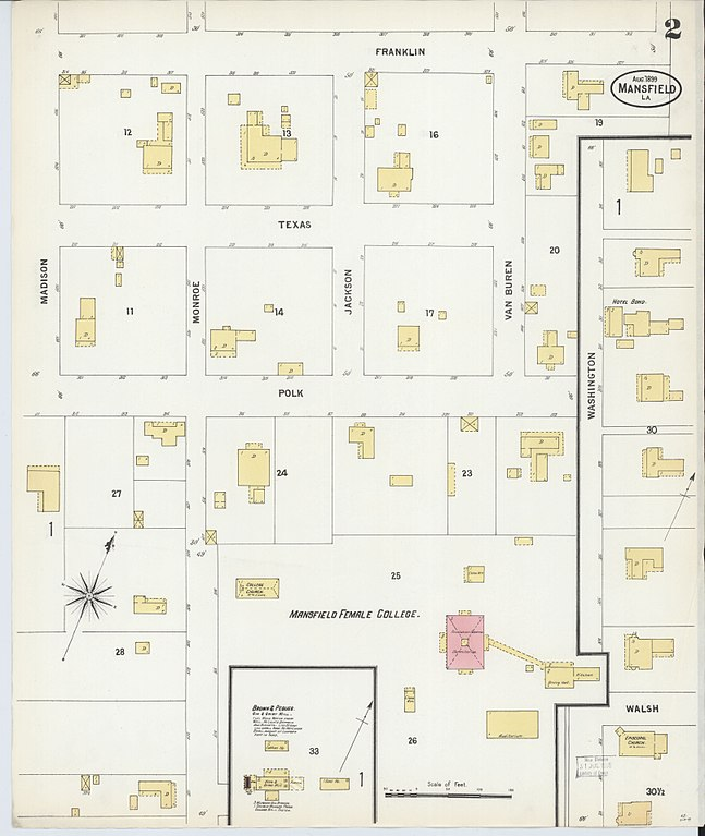 File Sanborn Fire Insurance Map from Mansfield De Soto Parish