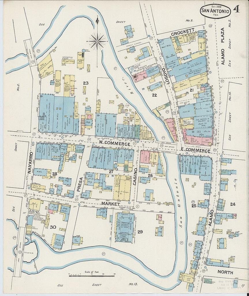 File Sanborn Fire Insurance Map From San Antonio Bexar County