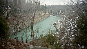 Indiana Limestone - Sanders Quarry in Monroe County, Indiana