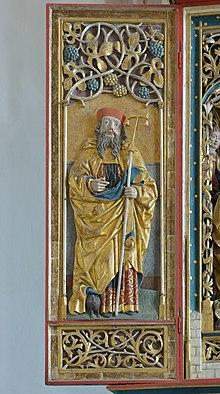 Sankt Magdalena Kirche in Dreikirchen Heiliger Antonius Abt Detail.jpg