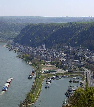 Sankt Goar - Sankt Goar seen from the northwest