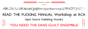 FontForge - Image: Sans Guilt LB sample