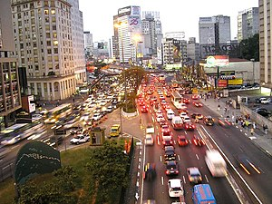 Roadway noise - Roadway noise is the most prevalent form of environmental noise. Pictured: São Paulo, Brazil.