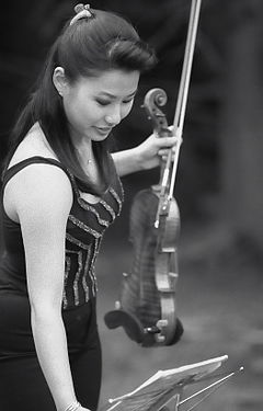 Sarah Chang before a concert.