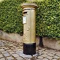 Sarah Storey's Gold Postbox, Disley - geograph.org.uk - 3145726.jpg