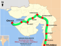 Saurashtra Mail (Mumbai - Okha) Route map.png