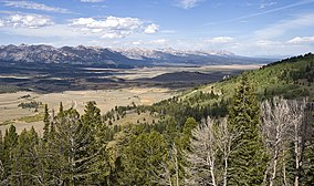 The Sawtooth Valley and Sawtooth Range viewed from Galena Summit on state highway 75 in the Sawtooth National Recreation Area