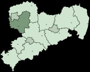 Leipzig (district) - Image: Saxony Landkreis Leipzig 2008