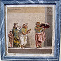 Scena di commedia, musici ambulanti, da villa di cecerone a pompei, 9985, 01.JPG