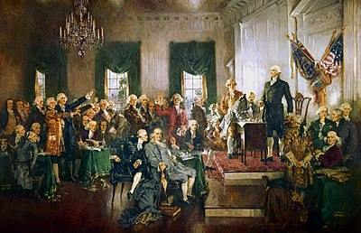 Resultado de imagen para foto de la constitucion usa