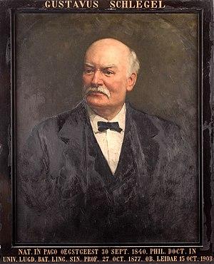 Gustaaf Schlegel - Portrait of Schlegel by Thérèse Schwartze