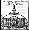 Schleuen - Friedrichswerderische Rathaus und Gymnasium 1757.jpg