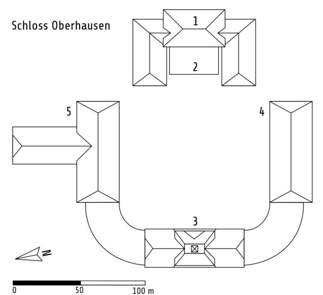 Схема замка: 1 — главное