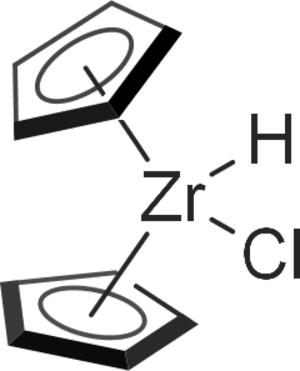 Schwartz's reagent - The structure for Schwartz's reagent was long assumed to be monomeric (as shown here).  Spectroscopic results however point to a dimeric structure with bridging hydride ligands.