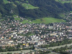 Schwaz - Image: Schwaz (Tyrol) from NE closer