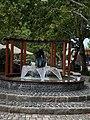 Sculpture in the fountain in Balatonboglár.jpg