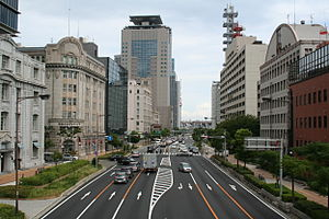 Japan National Route 2 - Route 2 passing through Kobe