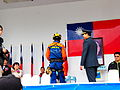Search and Rescue Team of Fire Bureau, Taitung County Govement Taking Award on Reviewing Stand 20120324.jpg