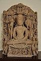 Seated Four-armed Vishnu in Meditation - Medieval Period - Gatashram Narayan Temple - ACCN 00-D-37 - Government Museum - Mathura 2013-02-23 5315.JPG