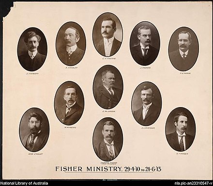 The Second Fisher Ministry; the 8th Australian federal ministry, 1910.