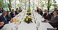 Secretaries Clinton and Panetta Participate in the AUSMIN Working Lunch with Australian Ministers Carr and Smith (8185309775).jpg