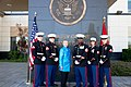 Secretary Clinton Meets With U.S. Marine Corps Guards at the U.S. Embassy in Yerevan.jpg