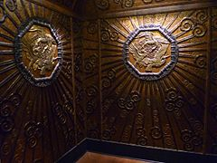 Interior of a Selfridges lift from 1928 in the Museum's 20th-century section