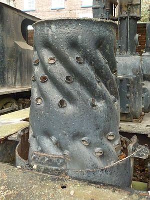 Sentinel boiler - Inner firebox of the later spiral design
