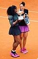 Serena Williams and Madison Keys Rome Masters 2016.jpg