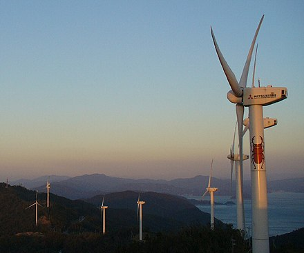 Part of the Seto Hill Windfarm in Japan. Setokazenooka-park01.jpg