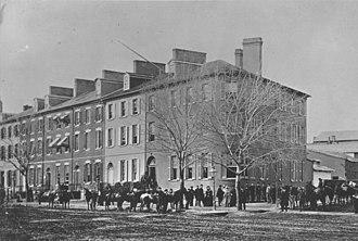 Seven Buildings - The Seven Buildings in 1865.