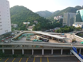 Sha Tin Station Bus Terminus viewed from New Town Plaza.jpg