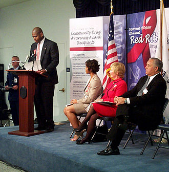 Partnership for Drug-Free Kids - The Partnership coordinates efforts with government officials, including Andre Hollis, the deputy assistant defense secretary for counternarcotics, in 2002.