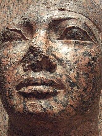 Shebitku - Shebitku's statue in the Nubian Museum