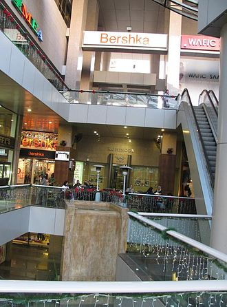 Rue Verdun - The interior of a Verdun shopping center