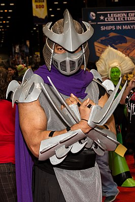 Cosplayer Shredder tijdens Chicago Comic & Entertainment Expo (C2E2) 2016.
