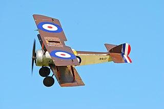 Sopwith Pup British WW1 biplane fighter aircraft