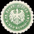 Siegelmarke Königlich Preussisches Haupt - Steuer - Amt - Neu - Ruppin W0205303.jpg