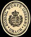 Siegelmarke Königlich Württembergische Oberamt - Urach W0227804.jpg