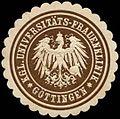 Siegelmarke Königliche Universitäts-Frauenklinik - Göttingen W0262973.jpg