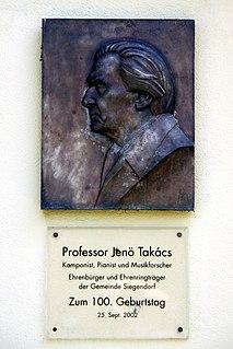 Jenő Takács Hungarian composer