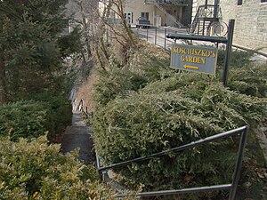 Kosciuszko's Garden - Image: Sign and Steps to Kosciuszko's Garden