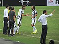 Singapore Selection vs Juventus - 2014 - Marco Motta, Andrea Pirlo, Max Allegri (cropped).jpg