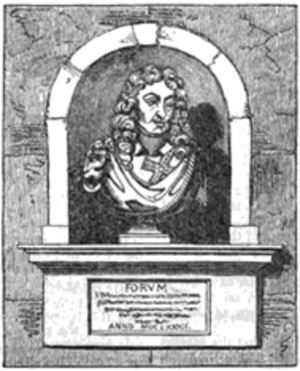 Edward Hungerford (spendthrift) - Another drawing of the bust of Hungerford, published in Gentleman's Magazine 1832